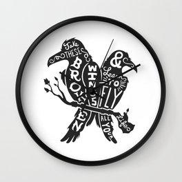 Blackbirds Singing Wall Clock