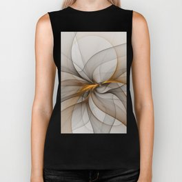 Elegant Chaos, Abstract Fractal Art Biker Tank