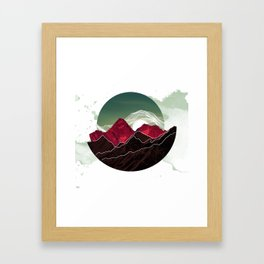 Red Mountains Framed Art Print