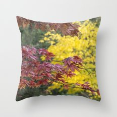 Maple Contrasts Throw Pillow