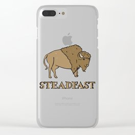 Steadfast Bison Buffalo Gift Clear iPhone Case