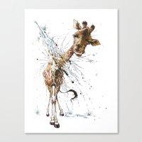 giraffe Canvas Prints featuring Giraffe by TAOJB