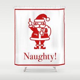 Angry Santa Shower Curtain