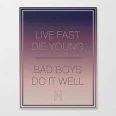 Live Fast | Typography Canvas Print