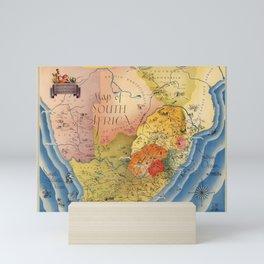 Map Of South Africa 1937 Mini Art Print