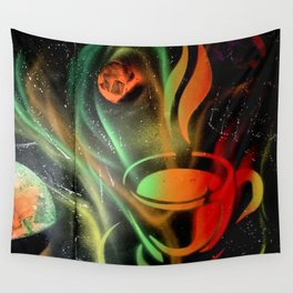 Space Coffee Wall Tapestry