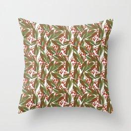 Flowering Gum - White Throw Pillow