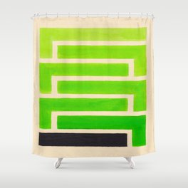 Lime Green Aztec Pattern Shower Curtain