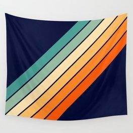 Farida - 70s Vintage Style Retro Stripes Wall Tapestry