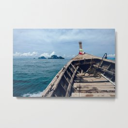 Pacific Boat Adventure Metal Print