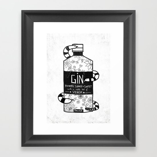 GIN Framed Art Print