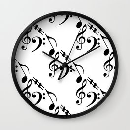 Music pattern Wall Clock