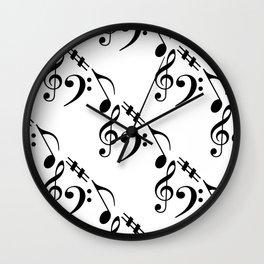Music pattern Wall Clock