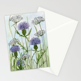 Thistle White Lace Watercolor Stationery Cards