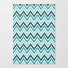 Indie Spice: Turquoise Chevron Canvas Print