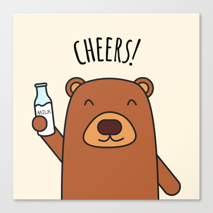 Cheers, Bear! Canvas Print