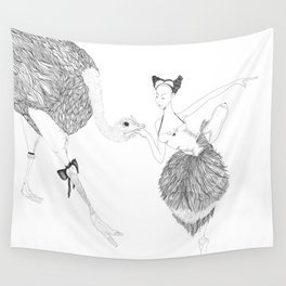 The Dancer and the Ostrich Wall Tapestry