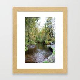 Autumn Creekside Framed Art Print