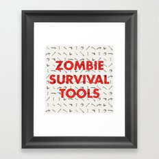 Zombie Survival Tools - Pattern 'o tools Framed Art Print