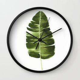 Nature leaves II Wall Clock