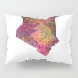 Kenya in watercolor Pillow Sham