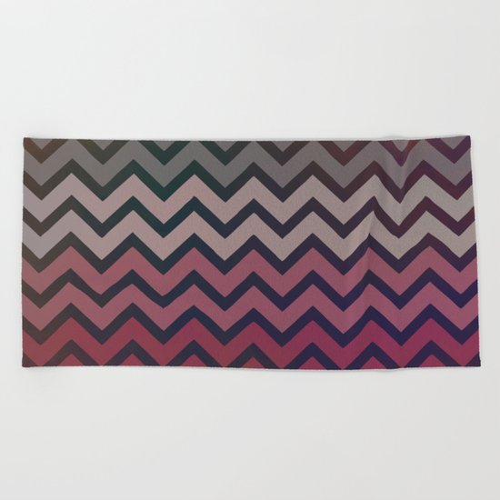 Pink Chevron Beach Towel