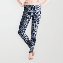 Hawaiian tribal pattern III Leggings