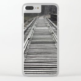 On That Train of Thought Clear iPhone Case