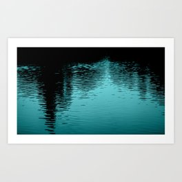 Reflection Blue Art Print