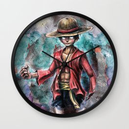 The King of Pirates a Tra-Digital Portrait Wall Clock