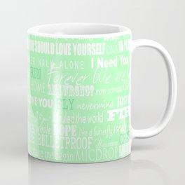 lyrics green Coffee Mug