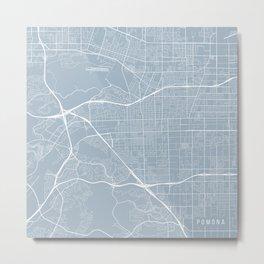 Pomona Map, USA - Slate Metal Print