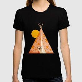 Little_PUG_PUPPY_CUTE_SUN_CAMP_POP_ART_M001 T-shirt