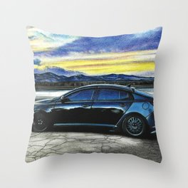 Car drawing, pastel pencil on paper Throw Pillow