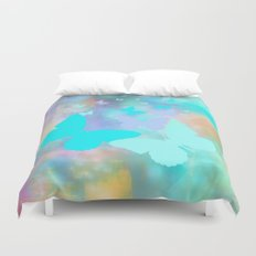 Painterly Butterfly Abstract Duvet Cover