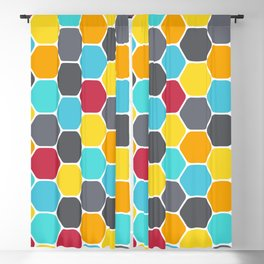 Honeycombs and colours Blackout Curtain