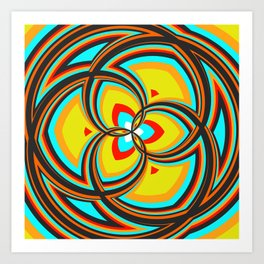 Spiral Rose Pattern A 2/4 Art Print