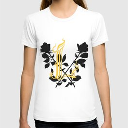 Locust Tattoo roses and L monogram by Sarah de Azevedo T-shirt