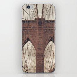 Moody Brooklyn Bridge iPhone Skin