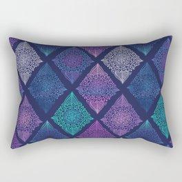 Night Glow Diamonds Rectangular Pillow