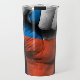Chilean Flag on a Raised Clenched Fist Travel Mug