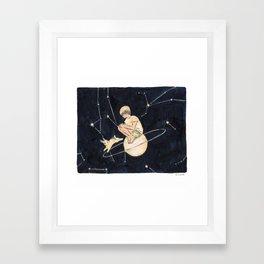 like a satellite Framed Art Print