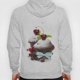 fresh chocolate muffins with cherry Hoody