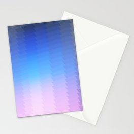 blue pink ombre color gradient abstract pattern Stationery Cards