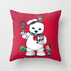 Puft Buddies Throw Pillow