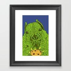 cthulhu wants a cookie Framed Art Print