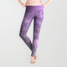 Be your own kind of beautiful typography Leggings
