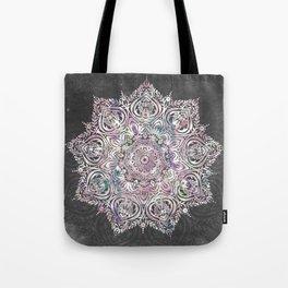 Dreaming Mandala - Magical Purple on Gray Tote Bag