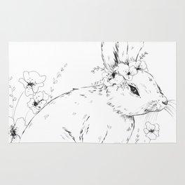 Little snowshoe hare Rug