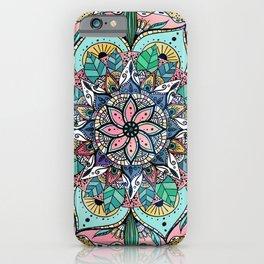 Bohemian Colorful Watercolor Floral Mandala iPhone Case